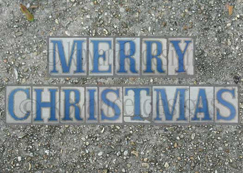 New Orleans street tiles- Merry Christmas