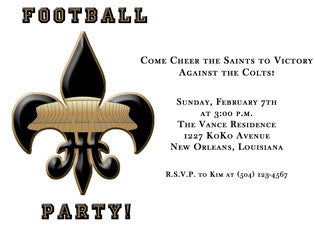 Superdome fleur de lis invitation/announcement