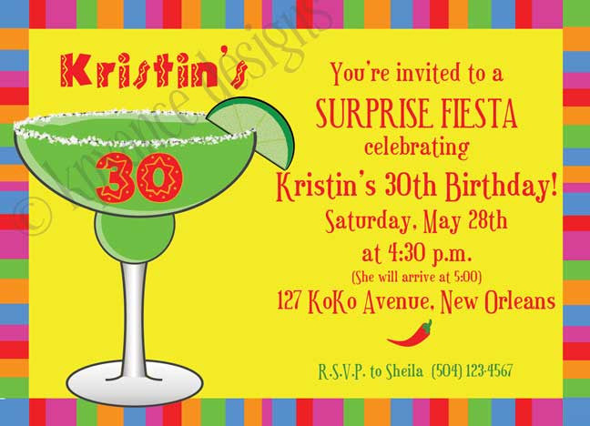 mexican margarita cinco de mayo invitation