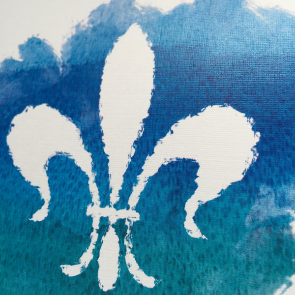 Watercolor Fleur de Lis Personalized Note Cards