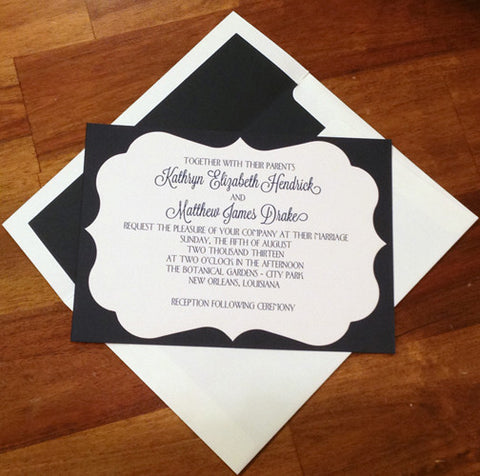 layered die cut bracket invitation/announcement