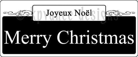 New Orleans street sign- Joyeux Noel Merry Christmas