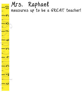 personalized ruler teacher note pad