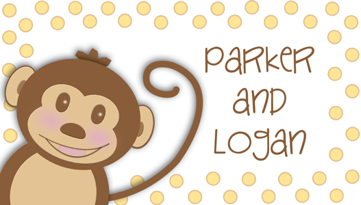 personalized monkey calling card/gift tag