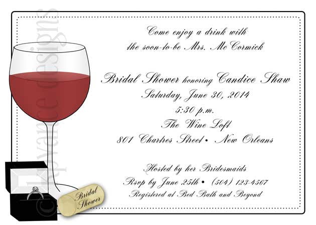engagement wine invitation/announcement