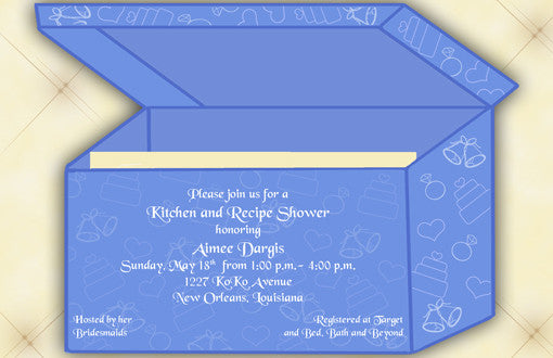 Recipe Box Invitation