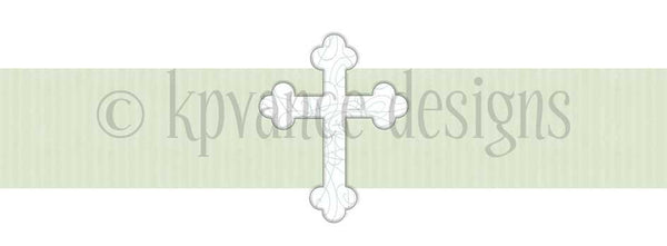 Ribbon Cross Invitation- Mint Green