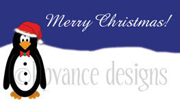 Santa penguin gift tags