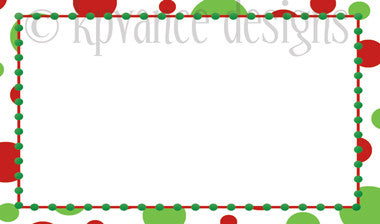 red and green polka dot Christmas gift tags