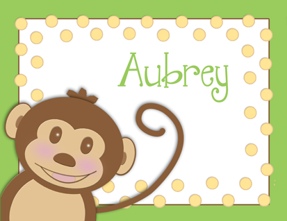 Silly Monkey Personalized Note Cards