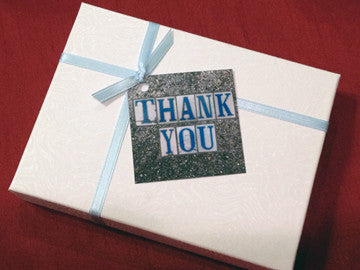 "New Orleans street tile ""Thank You"" tags"