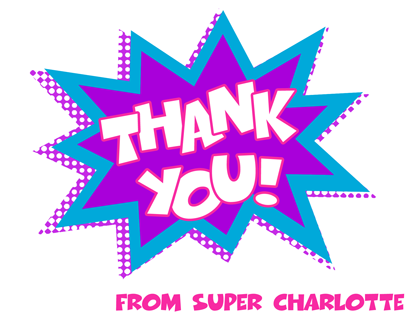 Super Girl Super Hero Thank You Note Cards- Personalized