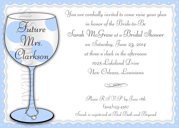 Future Mrs. wine invitation/announcement