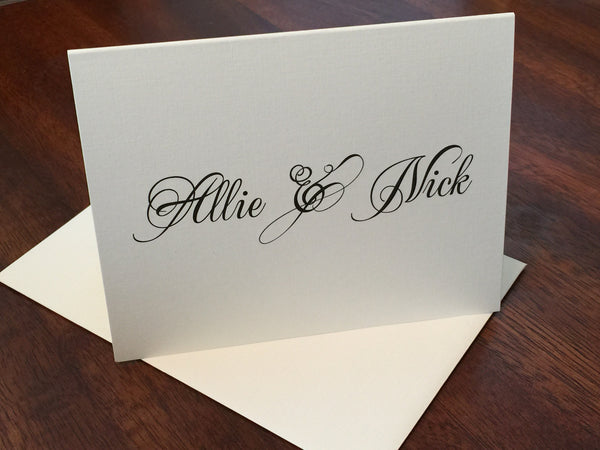 Couple's Personalized Linen Note Cards