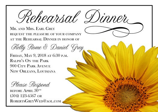 sunflower invitation/announcement