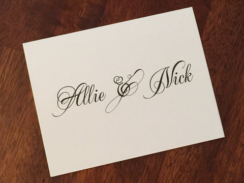 Personalized couple's note cards