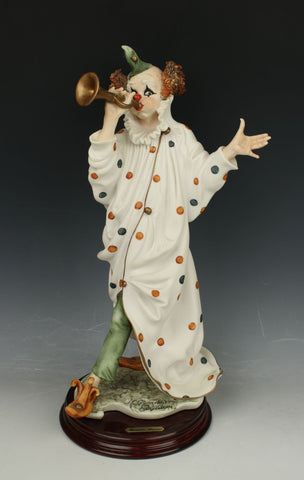 "Giuseppe Armani figurine 476C Clown ""Sound the Trumpet"""