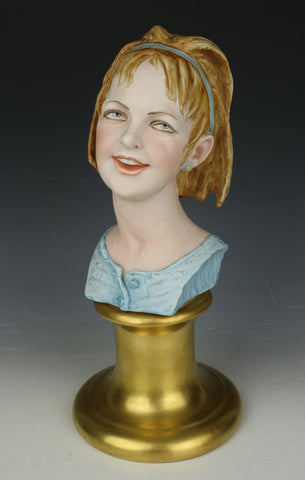 "Capodimonte Bruno Merli Figurine ""Bust of Girl"""