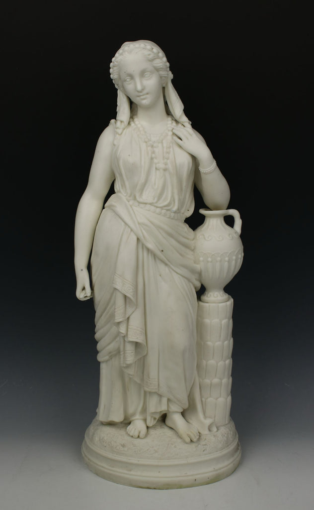 "19C English parian figurine ""Rebecca at the Well"""