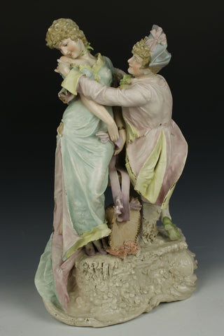 "Antique Ernst Wahliss Figurine 4037 ""Courting Couple"""