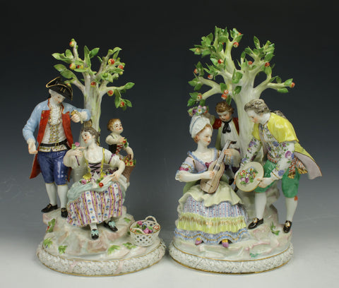 "Meissen Acier figurines ""Gardeners Groups"""