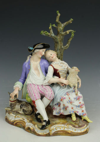 "Meissen figurine D19 ""Shepherds Under Tree"""