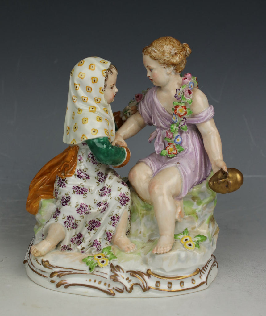 "Meissen Acier Figurine B88 ""Winter and Spring"""