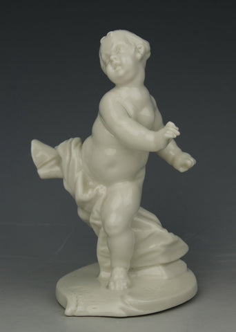 "Nymphenburg Bustelli figurine 95 ""Cherub in a Hurry"""