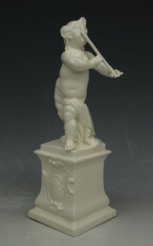 "Nymphenburg porcelain figurine 638 ""Cherub Playing Flute"""