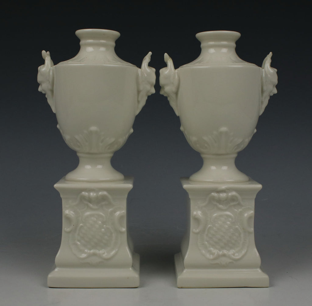"Nymphenburg pair of ""Satyr Head Urns"""