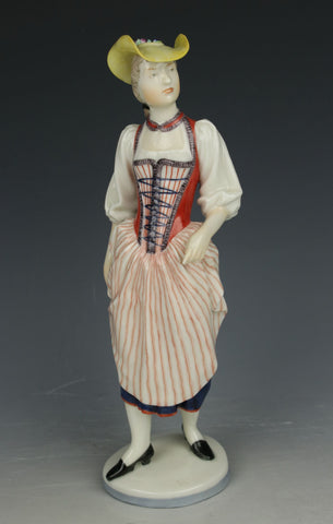 "Nymphenburg figurine 882 ""Woman from Luzern"""