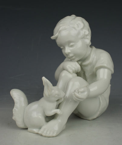 "Rosenthal Figurine 1663 ""Child with Squirrel"""