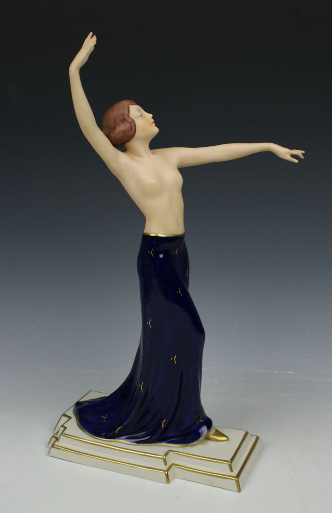 "Royal Dux Schaff art deco figurine 3251 ""Dancing Woman"""