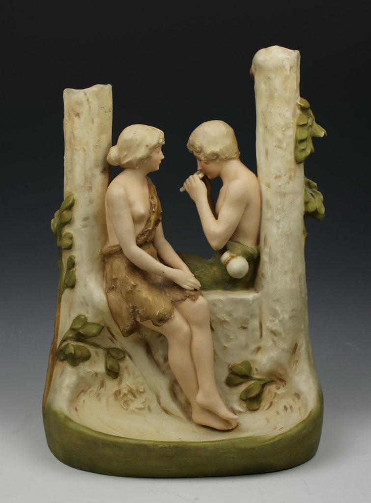 Royal Dux Figural Vase with Man and Woman