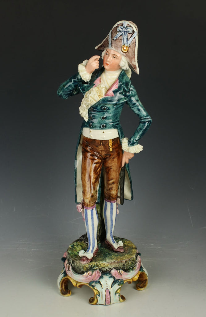 "Antique Royal Dux Majolica figurine ""Gentleman"""