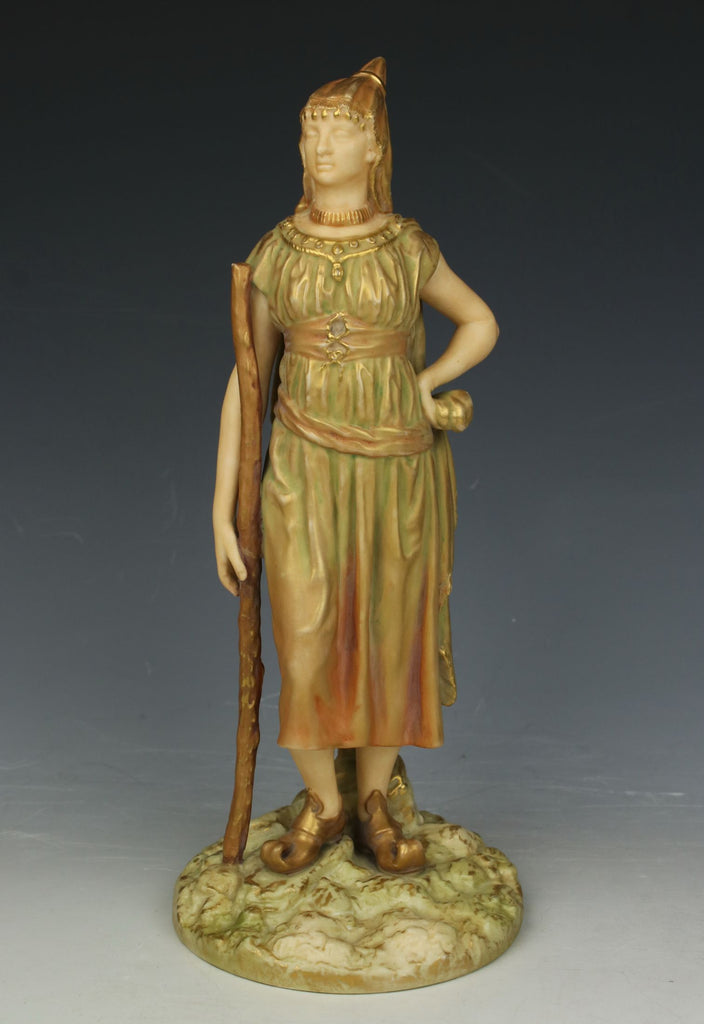 "19C Royal Worcester Hadley figurine 1243 ""Bringaree Indian Female"""