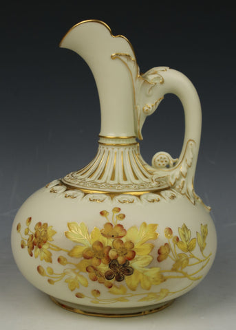 19C Royal Worcester 1136 Ewer Pitcher Jug