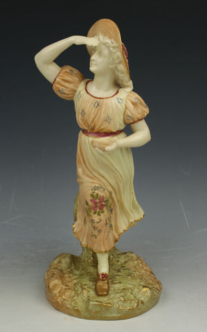 "Royal Worcester Hadley figurine 1293 ""Lady With Birds Nest"""