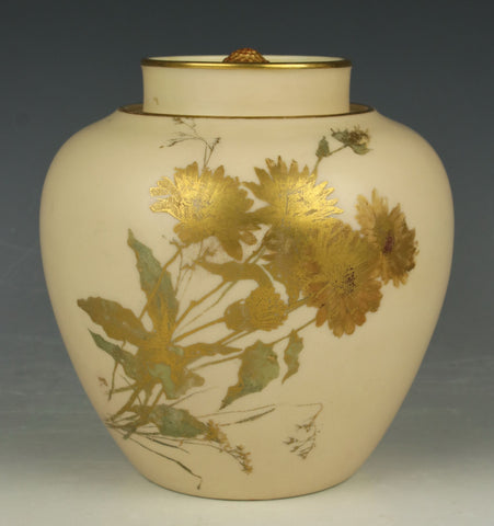 19C Royal Worcester 1112 Lidded Pot Pourri Jar
