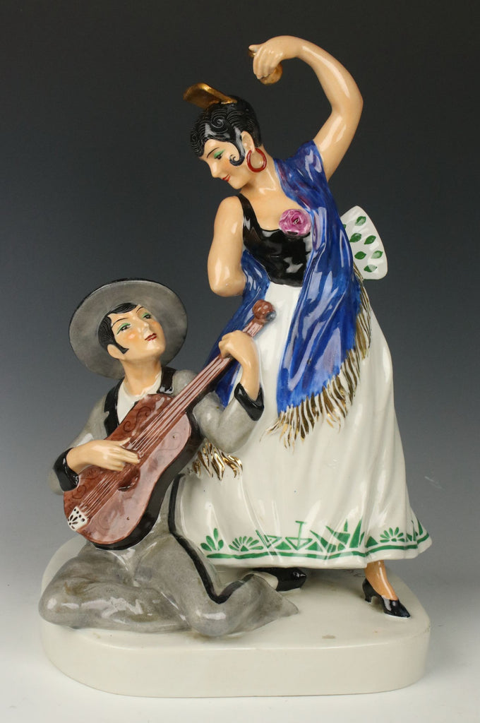 "Etling Editions Armand Godard french art deco figurine ""Flamenco"""