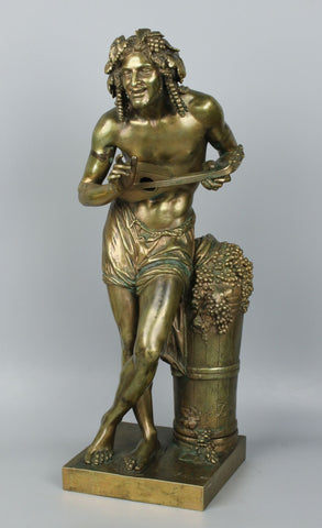 "Francisque Joseph Duret (French, 1804-1865) Bronze ""L'Impovisateur"""