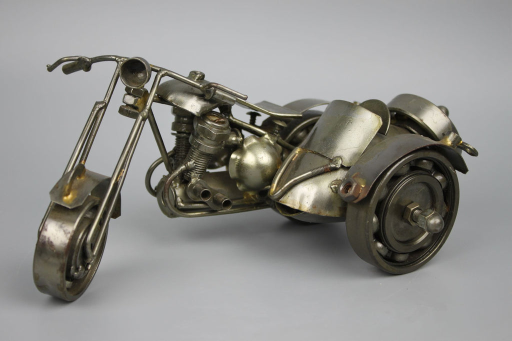 Scrap Metal Sculpture Model Recycled Handmade Art Motorcycle 1 - LUX-FAIR.com - 1