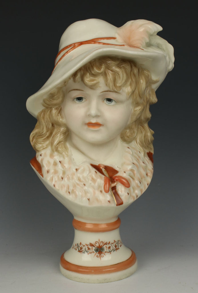 "German porcelain figurine ""Bust of Noble Boy"""