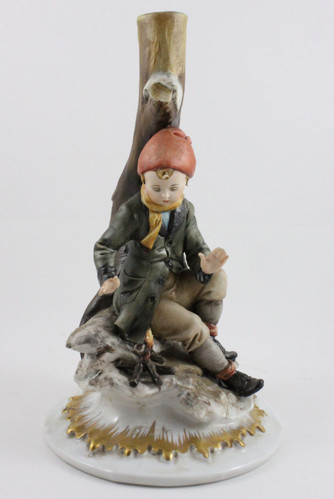 Capodimonte Tiche Figurine (lamp base) Winter - LUX-FAIR.com - 1
