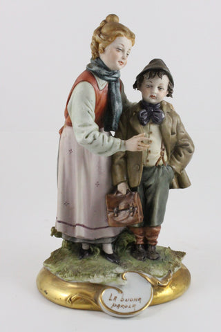 Capodimonte Tiche Figurine Good Word - LUX-FAIR.com - 1