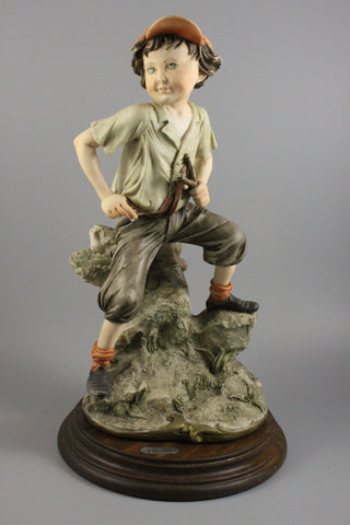 Giuseppe Armani Figurine Boy with Slingshot - LUX-FAIR.com - 1