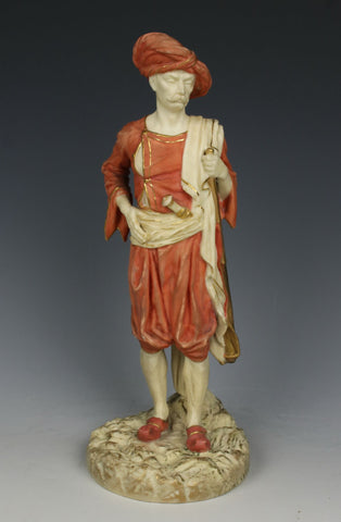 "19C Royal Worcester Hadley figurine 1243 ""Bringaree Indian"""