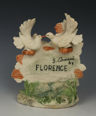 "Giuseppe Armani Figurine ""Florence Plaque with Doves"""
