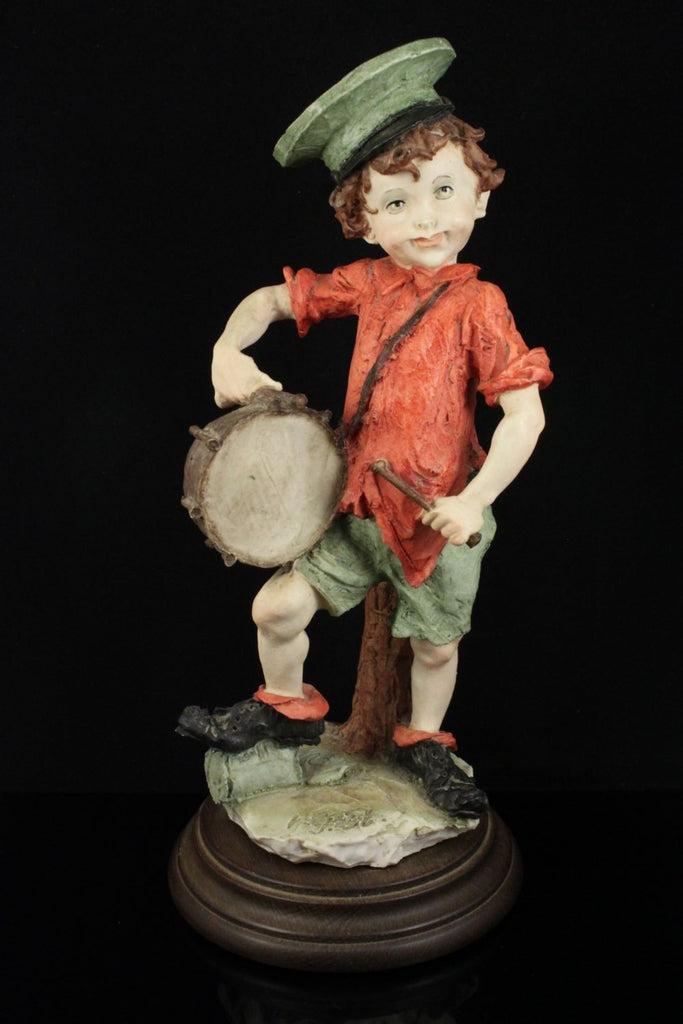 Giuseppe Armani Figurine Boy with Drum - LUX-FAIR.com - 1
