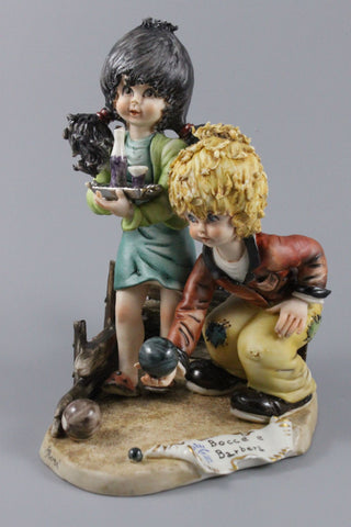 Capodimonte Rori Figurine Bocce and Barbera - LUX-FAIR.com - 1